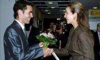 Javier Soto con la Infanta Elena