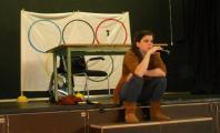 Carla Casals relatando su experiencia en el escenario