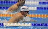 Enrique Floriano nadando a braza