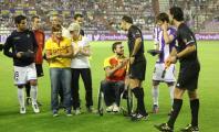 Marta Arce en un evento en el campo de fútbol del Valladolid