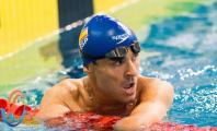Ricardo Ten en la piscina después de una carrera