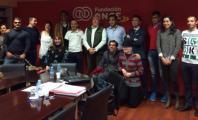 Ruth Aguilar en Fundación ONCE junto a otros compañeros deportistas